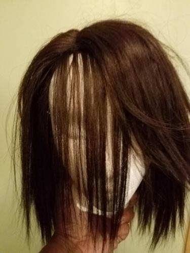wig construction before cut